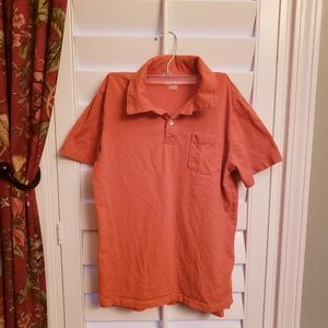 Boys Orange Collared Shirt Sz 8-10